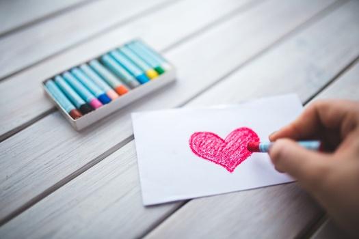 coeur dessiné